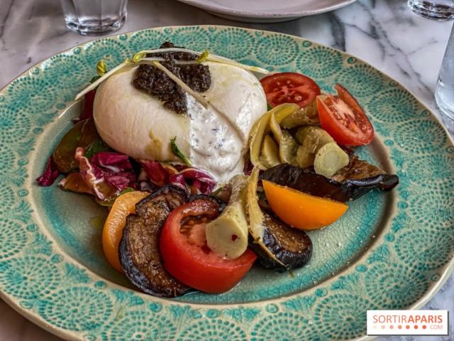 Cucina Eat Burrata aux légumes rôtis