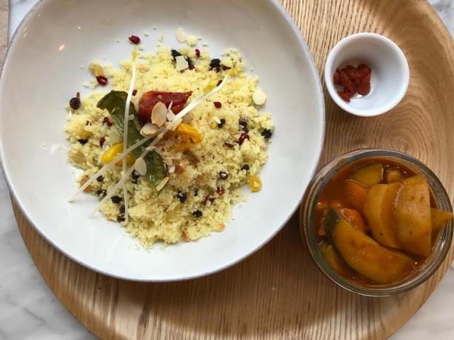 Cucina Eat couscous complet bio végétarien et ses légumes (option végétalienne possible)